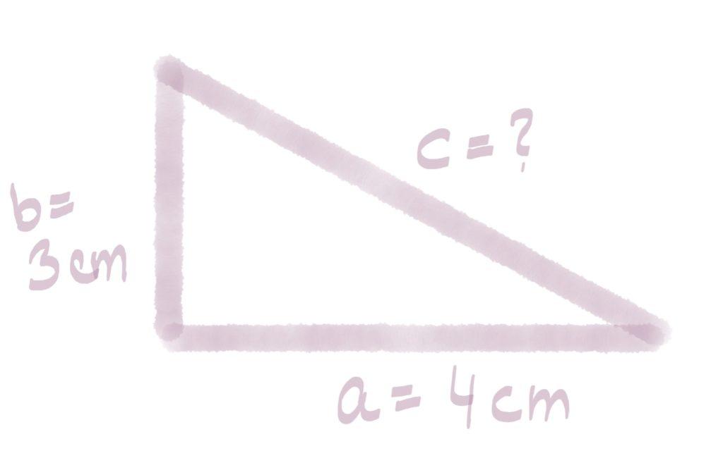 Berechnung der Hypotenusen-Länge
