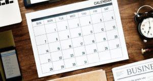 Uhrzeiten und Kalender