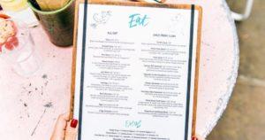 Menu - englische Speisekarte