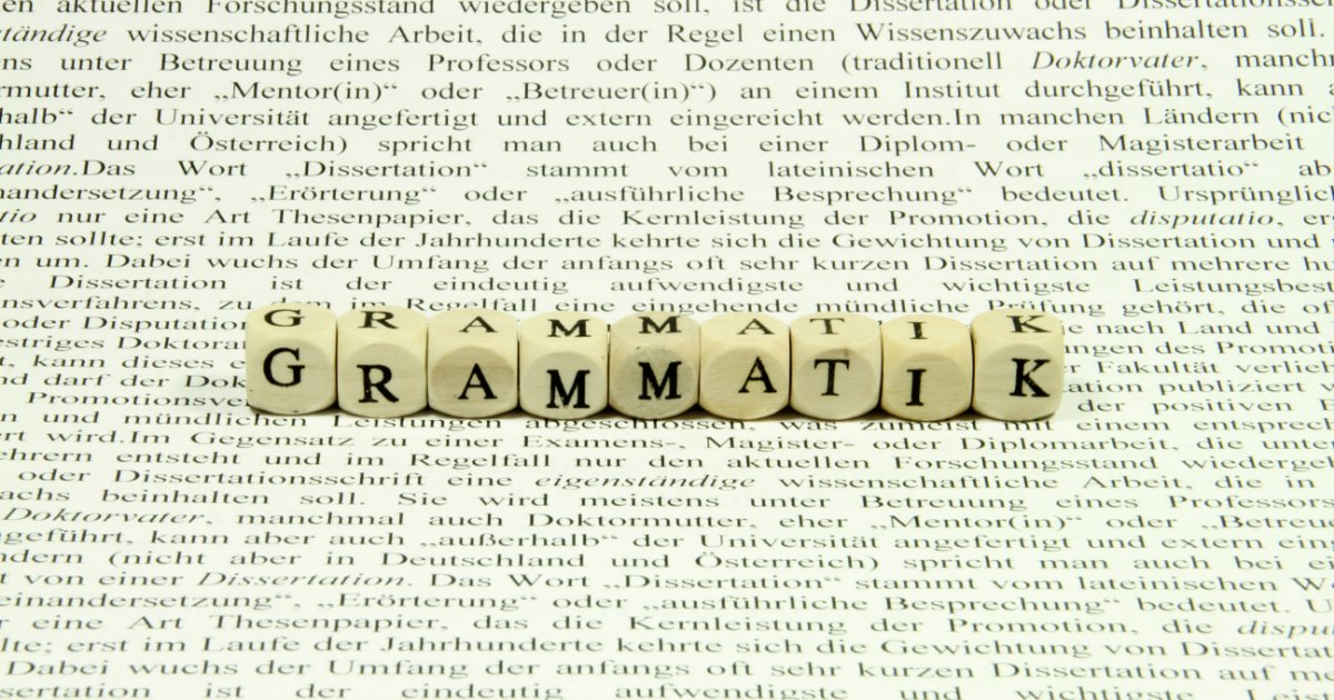 Deutsche Grammatik So Lernst Du Sie Ganz Einfach Nachgeholfende