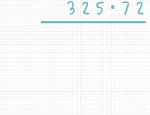 Schriftlich multiplizieren Beispiel 1