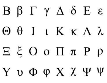 Griechische Buchstaben in der Mathematik