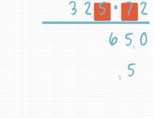 Schriftlich multiplizieren Beispiel 5