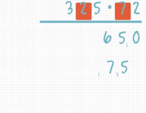 Schriftlich multiplizieren Beispiel 6