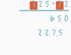 Schriftlich multiplizieren Beispiel 7