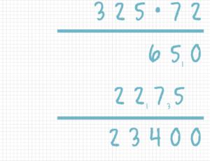 Schriftlich multiplizieren Beispiel 8