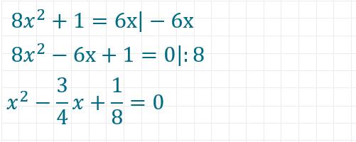 pq-Formel Beispiel 3 Teil 1