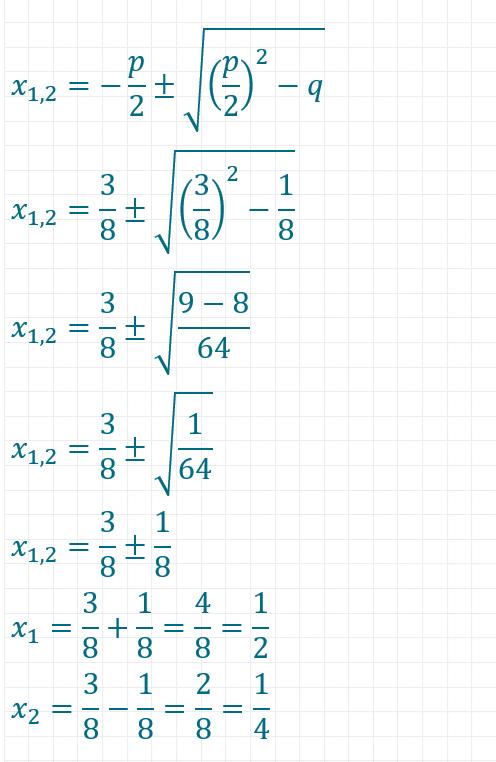 pq-Formel Beispiel 3 Teil 2