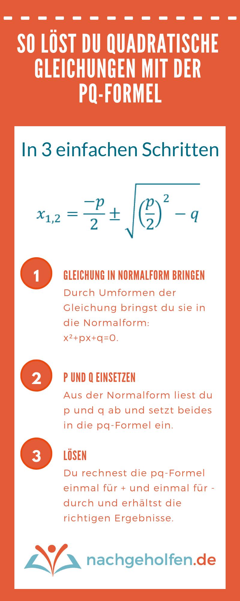 So wendest du die pq-Formel an(1)