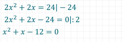 pq-Formel Beispiel 2 Teil 1